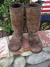 Ugg Australia Womens Classic Tall Boot Style 5815 Brown Size 8 VGUC Fur Foldover