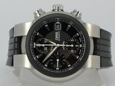 Good Condition Swiss Oris TT1 black dial auto date SS chrono watch