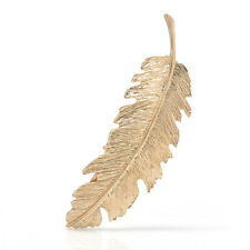 Fashion Women Gold Silver Leaf Feather Hair Bobby Pins Hairpin Clip Barrette New