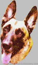 Large Embroidered Zippered Tote - Belgian Malinois DLE1480