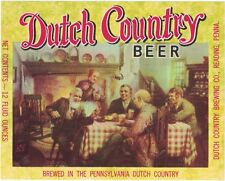Dutch Country Beer Label