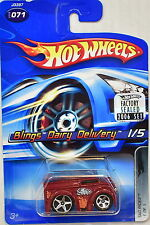 HOT WHEELS 2006 TAG RIDES BLINGS DAIRY DELIVERY #071 RED FACTORY SEALED