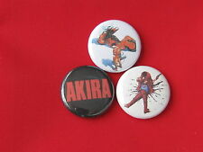set of 3 Akira pins buttons badges movie anime tetsuo kaneda
