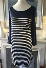 Lovely NEW m&s Ladies Navy Stripe Tunic / Top Size 18