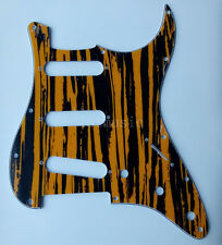 Guitar Pickguard Scratch Plate for Fender Strat Replacement Yellow Sallow 3Ply