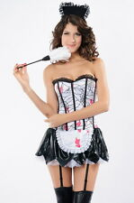 Bloody Zombie French Maid Sexy Costume Roleplay Halloween Cobwebs 8630