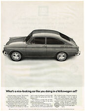 Vintage 1967 Magazine Ad Volkswagen What's A Nice Looking Car Like You & GM