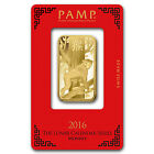1 oz Gold Bar - Pamp Suisse Year of the Monkey (In Assay) - SKU #92810