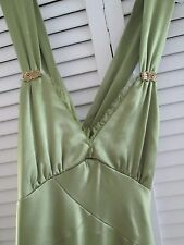 """Cache"" Green Gorgeous Sexy/evening/party Dress w/ Cross Open Back.Size 4"