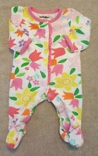 BABIES R US NEWBORN BRIGHT FLORAL FOOTED SLEEP N PLAY OUTFIT ADORABLE REBORN