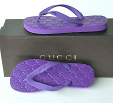 GUCCI New Womens Flats Shoes Flip Flops sz 35 - 5 Italy Authentic Thong Sandals