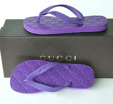 GUCCI New Womens Flats Shoes Flip Flops sz 36 - 6 Italy Authentic Thong Sandals