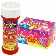24 Princess Bubble Liquid Tubs 25ml - Loot/Party Bag Fillers Gift Wedding/Kids