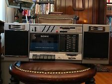 """Vintage Sony """"Transound"""" FM/AM Stereo Cassette Recorder Boombox #CFS-3000 CLEAN"""