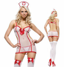 Sexy Women Lingerie Nurse Costume Hallowee Outfit Fancy Dress Cosplay 8-10