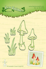 Lea'bilities Cutting and Embossing Die MUSHROOMS 45.2274  Leane