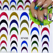 Neon Nail Art Adesivi French Tips Guide fai da te Stencil Manicure Attrezzi
