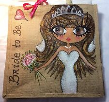 Personalised Bride to Be Wedding Jute Celebrity Handbag Gift Hen Party Bag