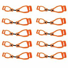 Max-Power 10Orange Glove Grabber Clip Holder Guard Work Safety Clip Glove Keeper