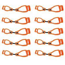 Max-Power 10Orange Glove Grabber Clip Holder Guard Work Safety Clip Glove Keeper