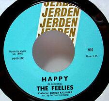 """FEELIES - Happy (Jerden) - '69 PNW garage rock 7""""/45 - LISTEN"""