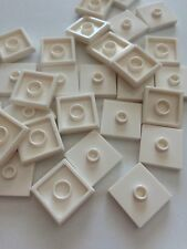 Lego New Lot Of 50 Plate Tile White 2x2 with Knob Groove Centre Stud Jumper