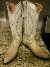 WOMEN'S LARRY MAHAN EL PASO EXOTIC NATURAL ALLIGATOR WESTERN BOOTS SZ. 6M