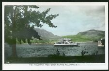 KELOWNA WESTBANK FERRY BRITISH COLUMBIA circa 1930s BC B.C. RPPC Photo Postcard