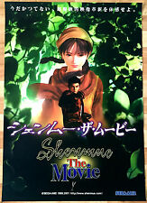 Shenmue RARE Dreamcast 51.5 cm x 73 Japanese Promo Poster