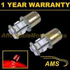 2X 207 1156 BA15s CANBUS ERRORFREE RED 9 LED SIDELIGHT SIDE LIGHT BULBS SL201001