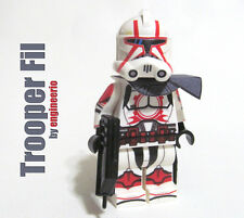 LEGO Custom -- Commander Fil - Star Wars Clone Trooper Minifigure 7681 ponds