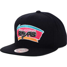 Mitchell and Ness NBA San Antonio Spurs Retro Logo Snapback Cap/Hat Black