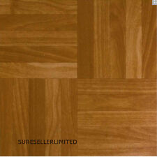 100 SQFT Vinyl Floor Tiles - Self Adhesive - Bathroom / Kitchen Flooring Wood SQ