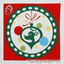 BonEful Fabric Cotton Quilt Block Dr Seuss Grinch Xmas Dog Max Circle L Applique