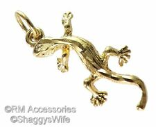 Lizard Gecko Charm / Pendant EP Gold Plated with a Lifetime Guarantee!