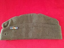 Original WW1 Vintage British Made US Army Overseas Hat Cap With Victory Ribbon