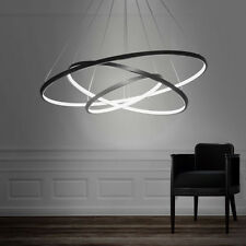 Modern Design LED 3Rings Chandelier Lighting Lights Fixture Pendant Ceiling Lamp