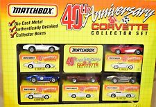 MATCHBOX 1993 5 CAR PACK 40TH ANNIVERSARY CORVETTE COLLECTOR SET