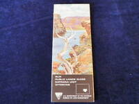 Vintage 1967 Wyoming Natrona Unit BLM Public Lands Map Guide Hunting Camping WY