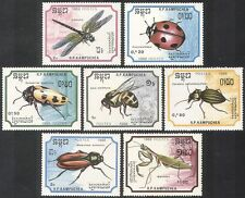Kampuchea 1988 Insects/ Dragonfly/BEE/Beetles 7v b8106