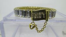 Vintage Juicy Couture Clear Stone Gold Stretch Bracelet