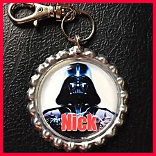 Personalized DARTH VADER Bottle Cap, Key Chain, Zipper Pull For School Backpack