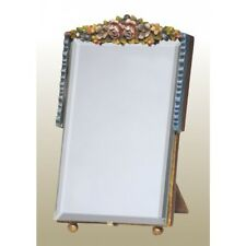 1 STUNNING RECTANGULAR  BARBOLA TABLE MIRROR COLOURFUL FLORAL FRAME SHABBY CHIC