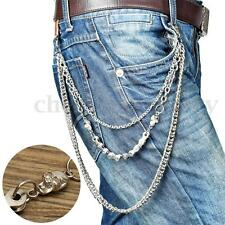Men Trouser Pant Belt Wallet Chain Keychain Biker Trucker Punk Hiphop Jean