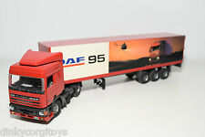 TEKNO DAF 95 TRUCK WITH TRAILER DEMO PROMOTIONAL RED VN MINT CONDITION