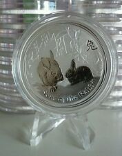 2011 AUSTRALIA Perth Mint LUNAR YEAR OF RABBIT 1 oz SILVER COIN