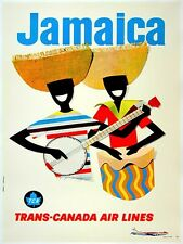 "Jamaica Art Vintage Travel Poster Jamaican Print 12x16"" Rare Hot New XR153"