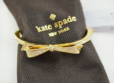 Kate Spade New York Love Notes Large Pave Bow Gold Bangle Bracelet
