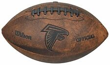 "OFFICIAL Atlanta Falcons NFL LEATHER FOOTBALL 9"" Throwback Vintage Style Youth"