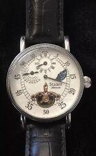 Vintage Stauer 15455 Skeleton Automatic Men's Wristwatch Round Black